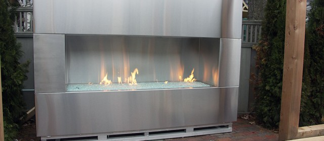 outdoor steel fireplace wall - Unique Stainless Steel