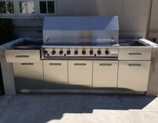 stainless steel bbq storage center