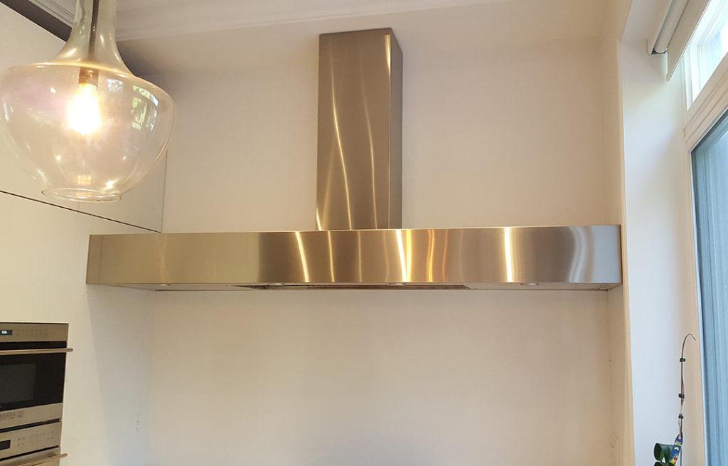 stainless steel modern sleek cooking hood